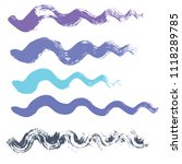 wave brush strokes vector set... | Shutterstock .eps vector #1118289785