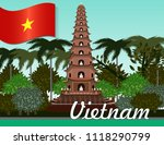 vietnam nature architecture | Shutterstock .eps vector #1118290799