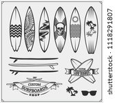 Set Of Different Surfboards....