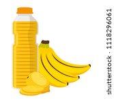 juice fruit bottle with bananas ... | Shutterstock .eps vector #1118296061