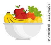 fruits and vegetables in bowl | Shutterstock .eps vector #1118296079