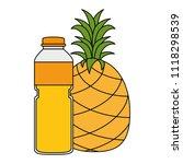 juice fruit bottle with... | Shutterstock .eps vector #1118298539