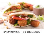 sandwich with vegetable and... | Shutterstock . vector #1118306507
