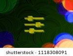 neon yellow sliders icon on the ...