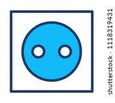 socket electric outlet  | Shutterstock .eps vector #1118319431