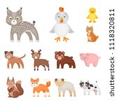 toy animals cartoon icons in... | Shutterstock . vector #1118320811