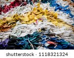fabric scraps  old clothing and ... | Shutterstock . vector #1118321324
