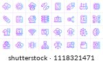 gradient outline icons set of... | Shutterstock .eps vector #1118321471