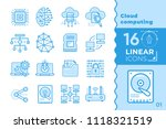linear icon set of cloud... | Shutterstock .eps vector #1118321519