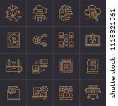 outline icons set of cloud... | Shutterstock .eps vector #1118321561