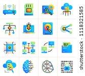 gradient flat icons set of... | Shutterstock .eps vector #1118321585