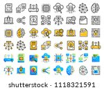 icons set of cloud computing ... | Shutterstock .eps vector #1118321591