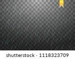 rain transparent template... | Shutterstock .eps vector #1118323709