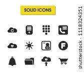 user icons set with phone book  ...