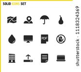 universal icons set with... | Shutterstock .eps vector #1118324369
