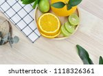 top view of fresh fruits on... | Shutterstock . vector #1118326361