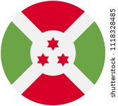 circular flag of burundi   Shutterstock .eps vector #1118328485