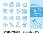 linear icon set of cloud... | Shutterstock .eps vector #1118328599