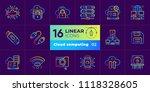 gradient outline icons set of... | Shutterstock .eps vector #1118328605