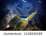 caltun lake in the fagaras... | Shutterstock . vector #1118330189