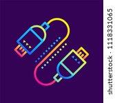outline gradient icons usb... | Shutterstock .eps vector #1118331065