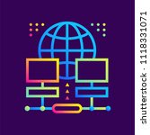 outline gradient icons web... | Shutterstock .eps vector #1118331071