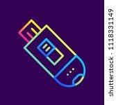 outline gradient icons usb... | Shutterstock .eps vector #1118331149