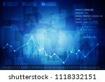 2d rendering stock market... | Shutterstock . vector #1118332151