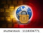 3d rendering world protection... | Shutterstock . vector #1118336771