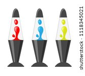decorative lava lamp with... | Shutterstock .eps vector #1118345021