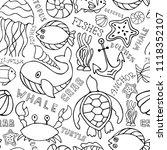 under water ocean fauna...   Shutterstock . vector #1118352107