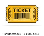 yellow ticket | Shutterstock .eps vector #111835211