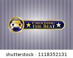 gold shiny emblem with car... | Shutterstock .eps vector #1118352131