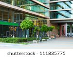 details of a modern office... | Shutterstock . vector #111835775