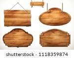 wooden board  old wood vector... | Shutterstock .eps vector #1118359874