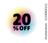20  off discount. sale vector... | Shutterstock .eps vector #1118363111