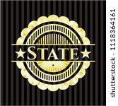 state gold emblem or badge | Shutterstock .eps vector #1118364161