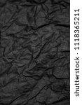 black crampled paper background ... | Shutterstock . vector #1118365211