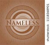 nameless wood emblem. vintage. | Shutterstock .eps vector #1118368901