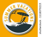 summer vacations vector logo... | Shutterstock .eps vector #1118370215