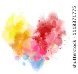 watercolor imitation heart... | Shutterstock .eps vector #1118371775