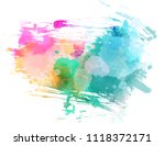 abstract multicolored brushed... | Shutterstock .eps vector #1118372171