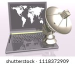 global communication 3d | Shutterstock . vector #1118372909