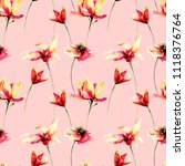 seamless pattern with... | Shutterstock . vector #1118376764