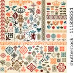 design elements set | Shutterstock .eps vector #111838331