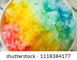 sweet homemade shaved rainbow... | Shutterstock . vector #1118384177