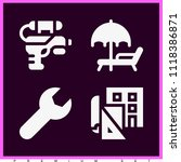 set of 4 other filled icons... | Shutterstock .eps vector #1118386871