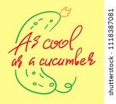 as cool as a cucumber  ... | Shutterstock .eps vector #1118387081