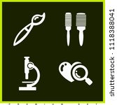 set of 4 tool filled icons such ... | Shutterstock .eps vector #1118388041