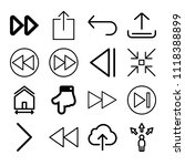 set of 16 arrows outline icons... | Shutterstock .eps vector #1118388899